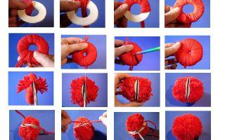 Как сделать помпон из пряжи?