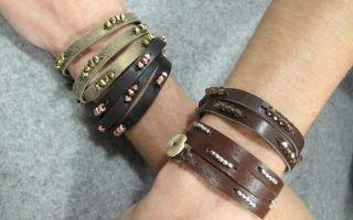 Как сделать кожаный браслет своими руками?