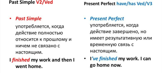 Чем отличается present perfect от past simple