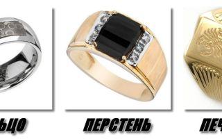 Чем отличается перстень от печатки