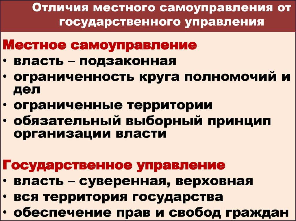 Управления.шпаргалка государственного отличительные черты